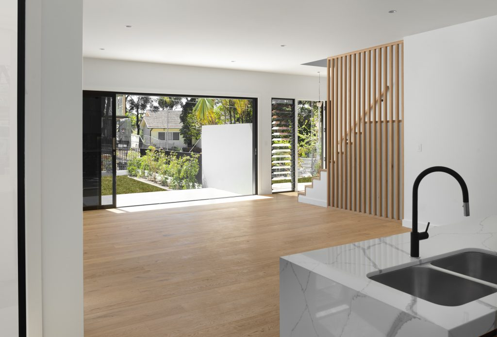 couvaras architects townhouse internal living room