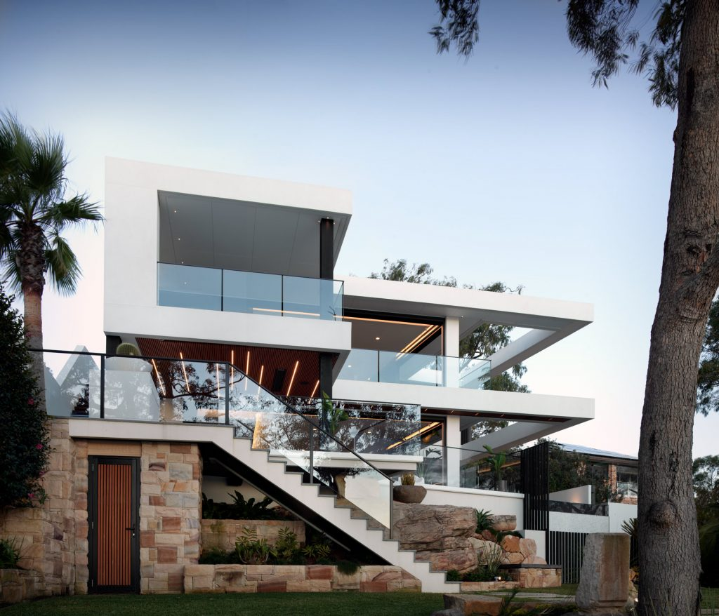 couvaras architects oyster bay house exterior