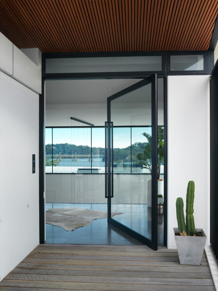 couvaras architects oyster bay house exterior front door