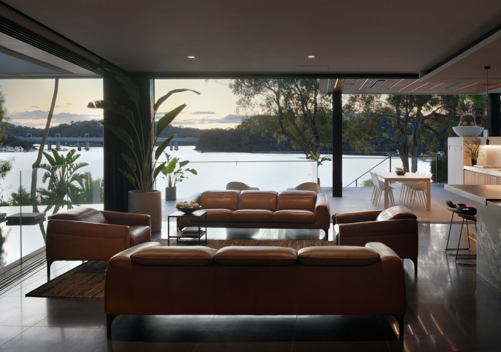 couvaras architects oyster bay house interior living room