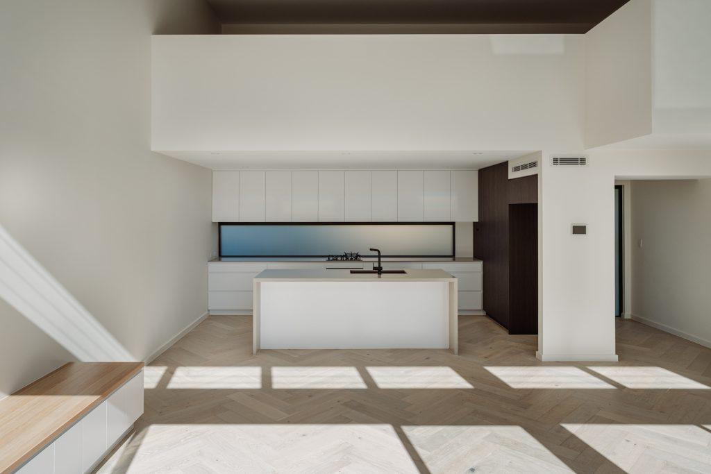 couvaras architects dual occupancy interior kitchen